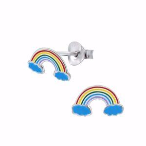 regnbue ørestikkere i sølv - Guld & Sølv Design